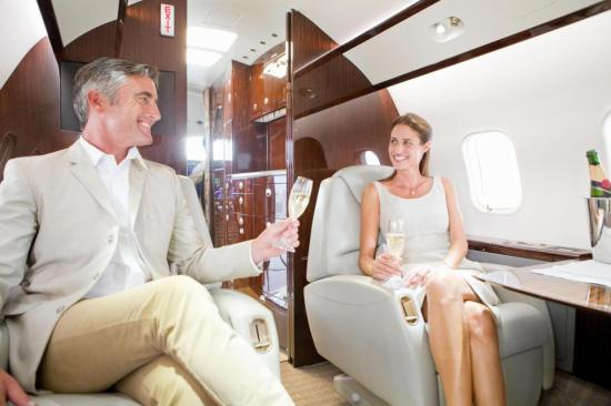 wealthy-private jet